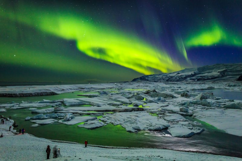 iceland south east jokulsarlon aurora rth