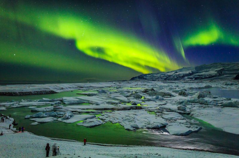 iceland south east jokulsarlon aurora rth
