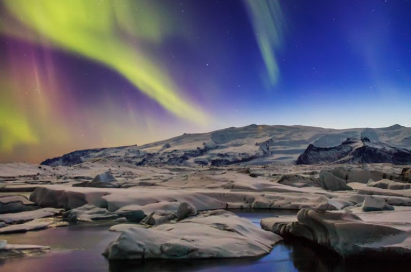 iceland south east jokulsarlon northern lights2 rth