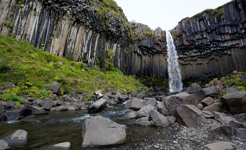 iceland south east skaftafell svartifoss ap