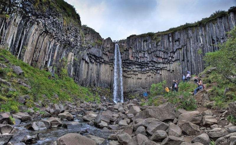 iceland south east skaftafell svartifoss rth