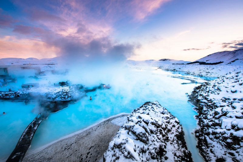 iceland south west blue lagoon winter adstk