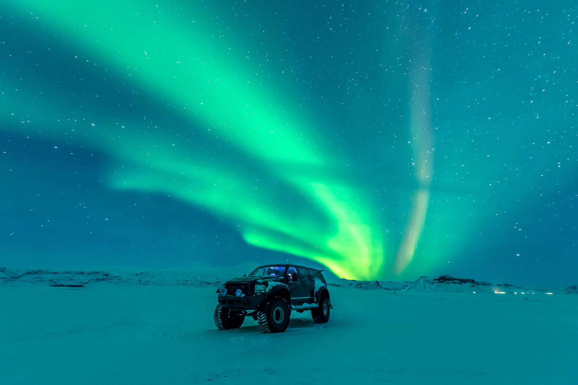 iceland south west superjeep aurora adstk