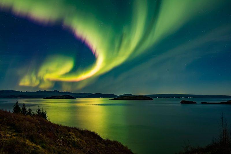 iceland south west thingvellir aurora rth