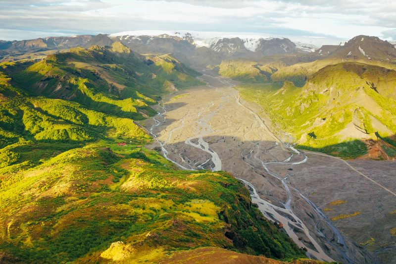 iceland south west thorsmork drone gt