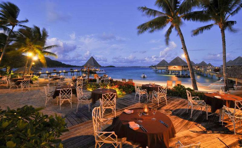 intercontinental bora bora le moana resort dining