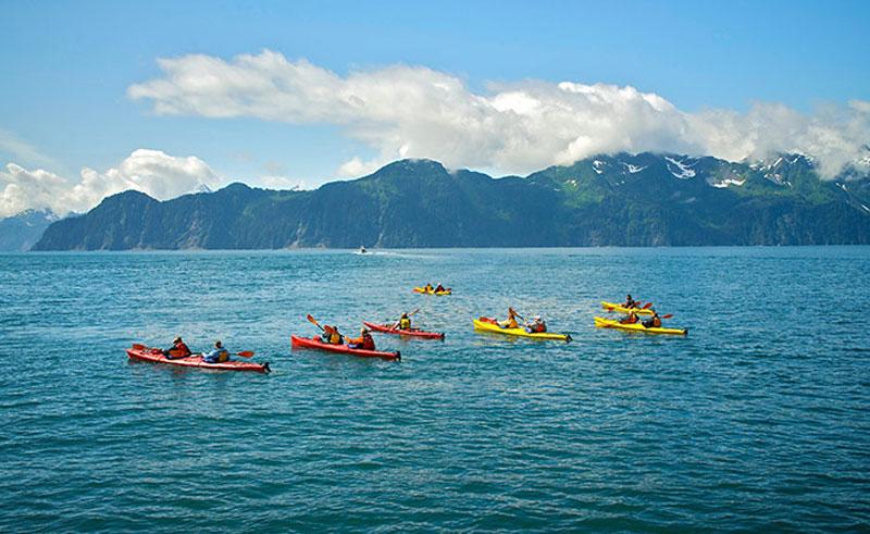Kayaking in the Kenai Fjords