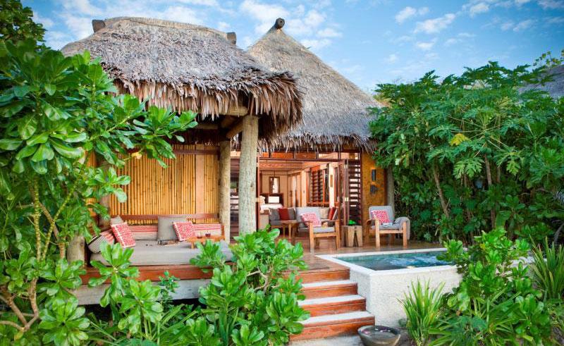 likuliku lagoon resort deluxe beachfront bure exterior