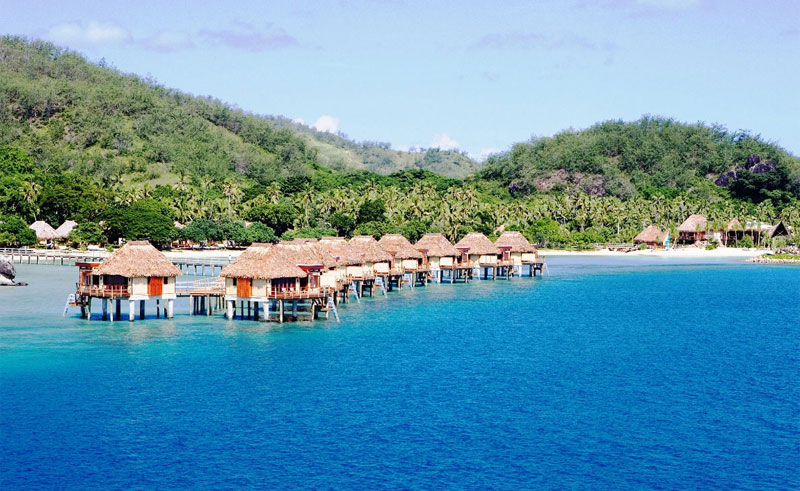 likuliku lagoon resort overwater bures
