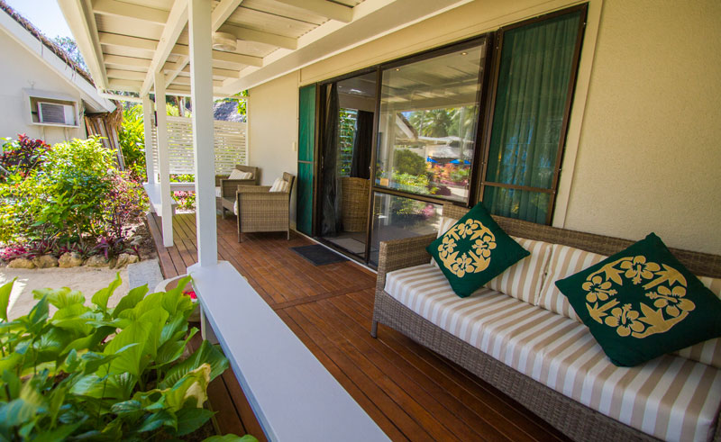 manuia beach resort vip garden bungalow balcony