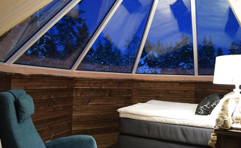 muotka wilderness lodge aurora cabin interior