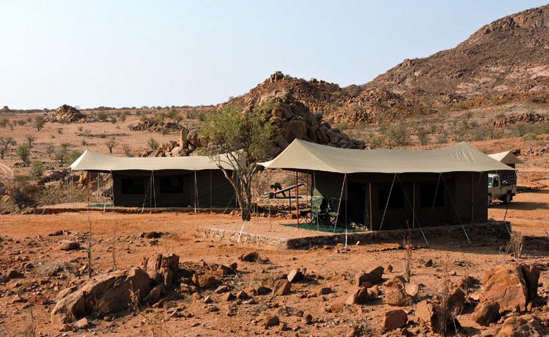 namibia damaraland ozondjou camp tents ot