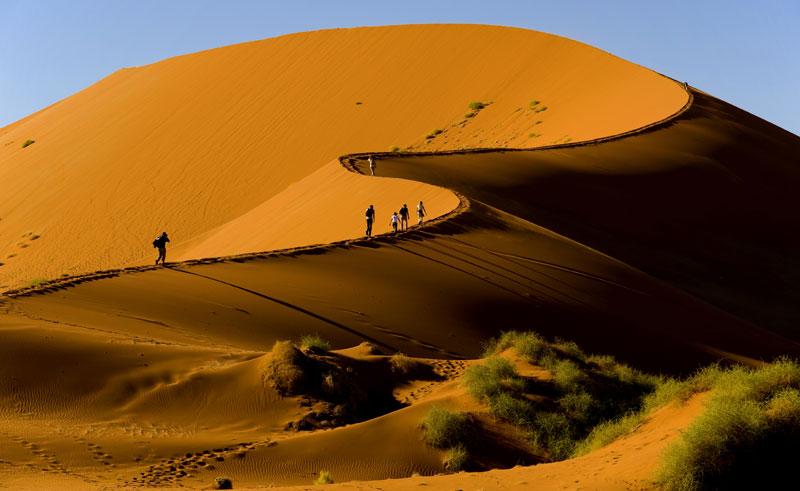 namibia sossusvlei desert dune trek istock