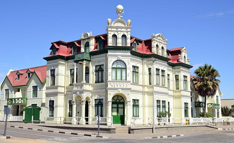 namibia swakopmund colonial building astock
