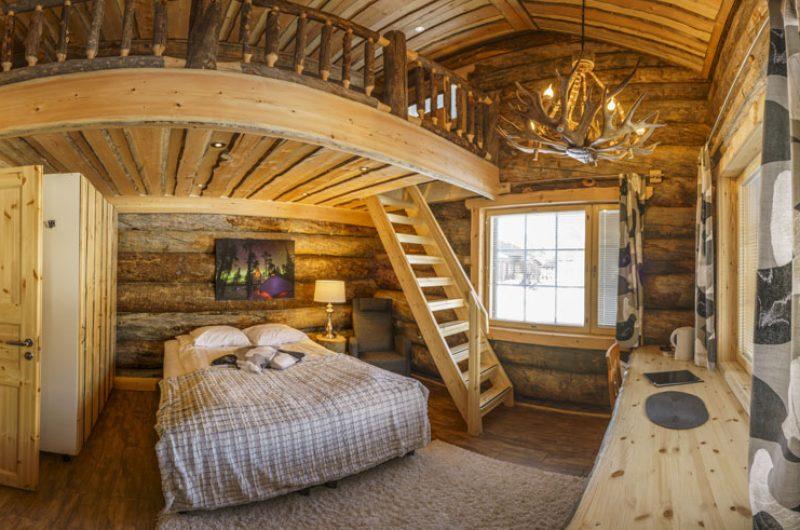 nellim log cabin interior rth
