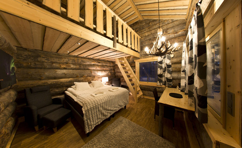 nellim rustic log suite interior