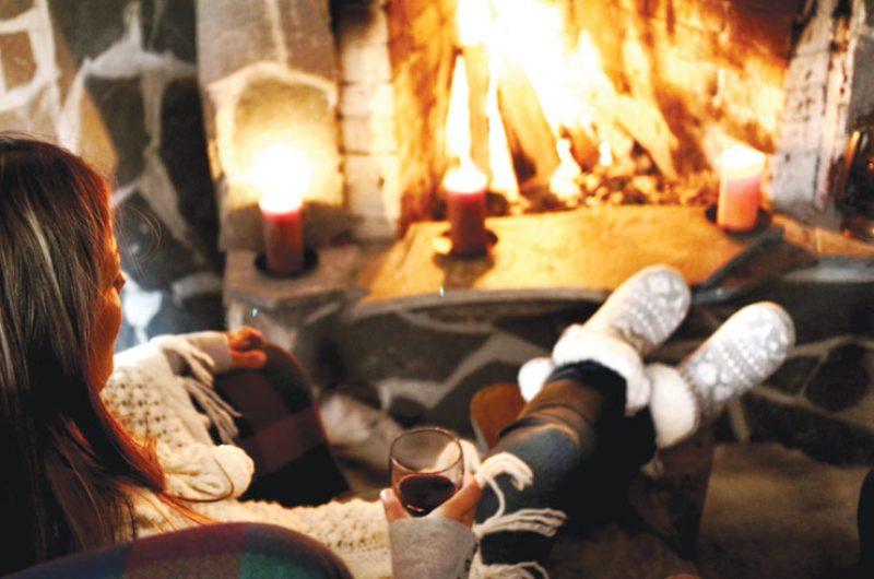 nellim wilderness lodge fireplace