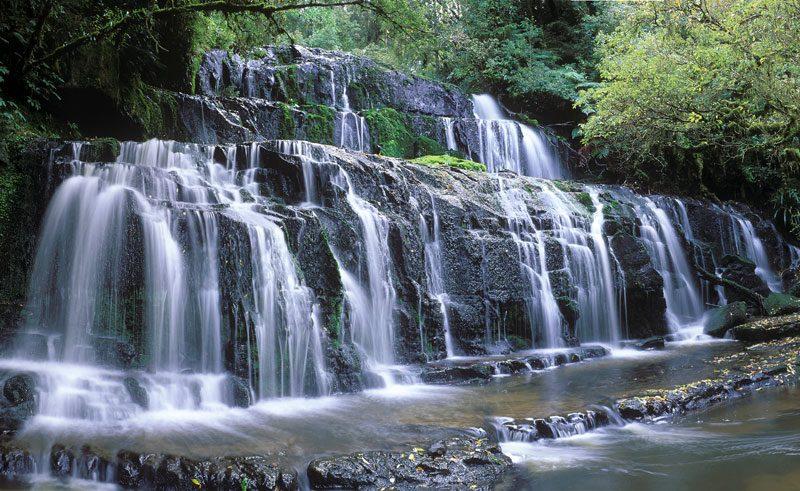 new zealand catlins waterfall vs