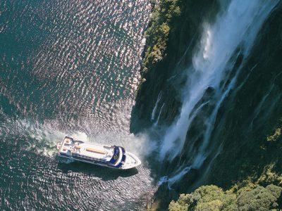 new zealand fiordland milford sound waterfall rj