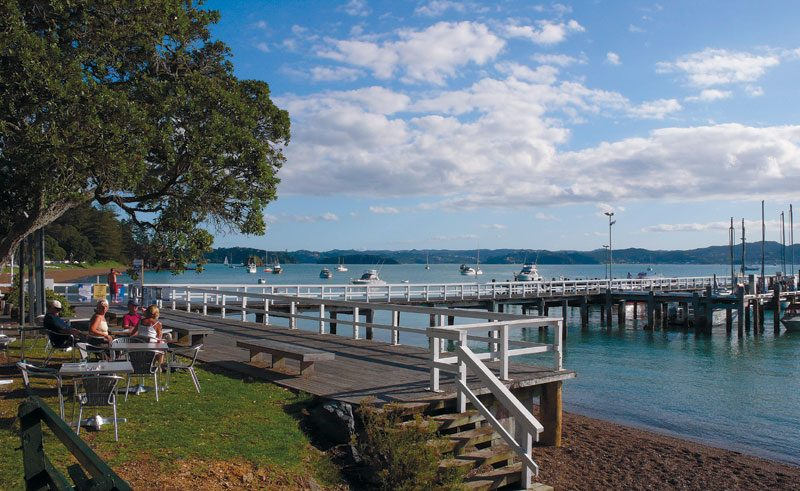 new zealand northland bay of islands russell waterfront dn