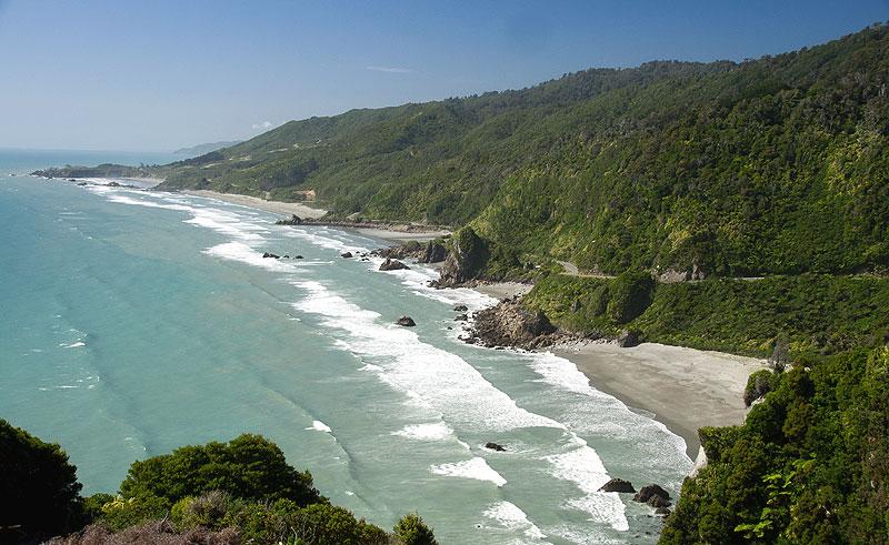 new zealand west coast tasman sea coastline ga