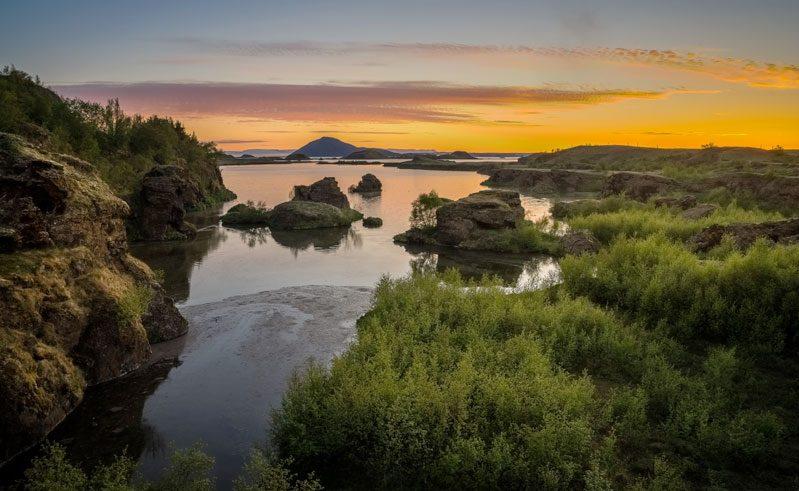 north iceland lake myvatn summer rth