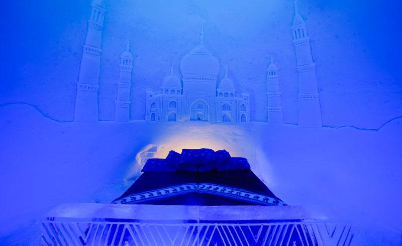 northern norway kirkenes snowhotel ice room