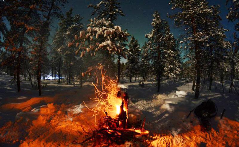 northern norway malangen tuli camp fire