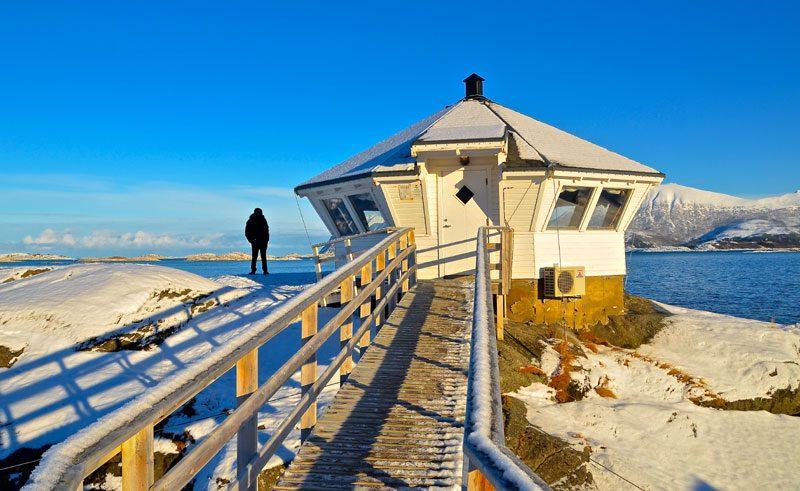northern norway senja island lighthouse hs