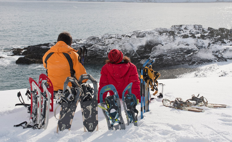 northern norway snowshoeing at kongsfjord guesthouse