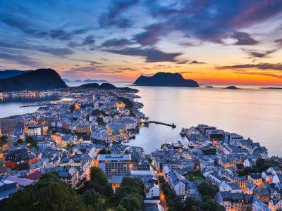 norway bergen alesund sunset view istk m