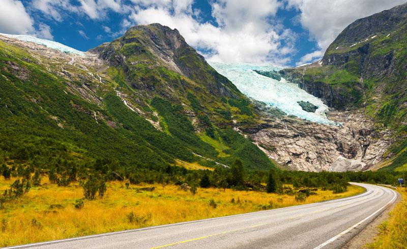norway fjords briksdal glacier is