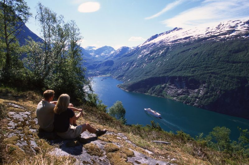 norway fjords geirangerfjord view fn