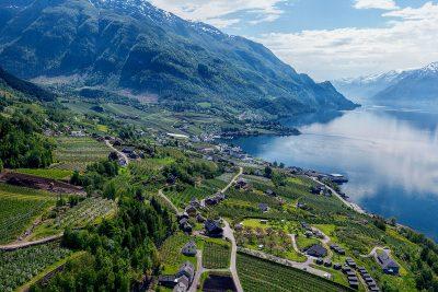 norway fjords lofthus aerial hotel ullensvang