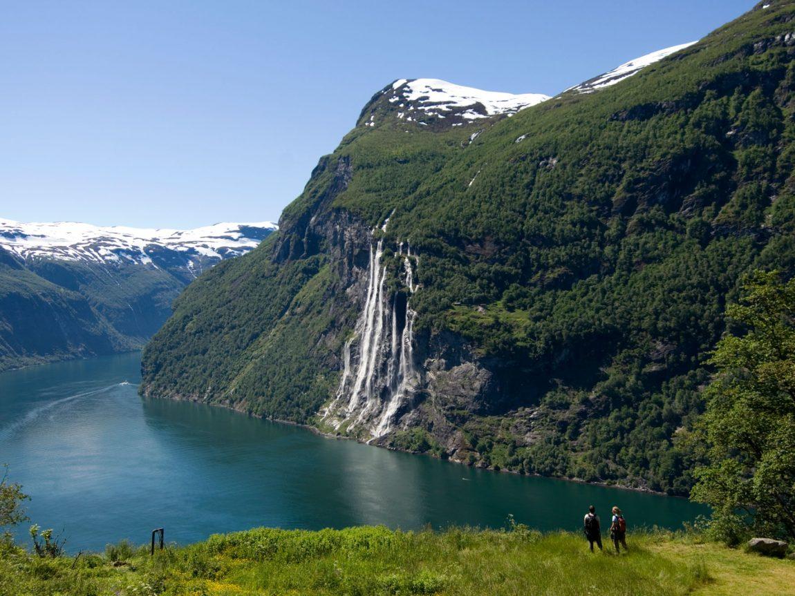 norway geirangerfjord waterfall inor