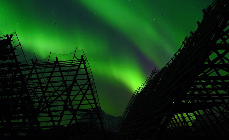 norway lofoten svolvaer northern lights vn