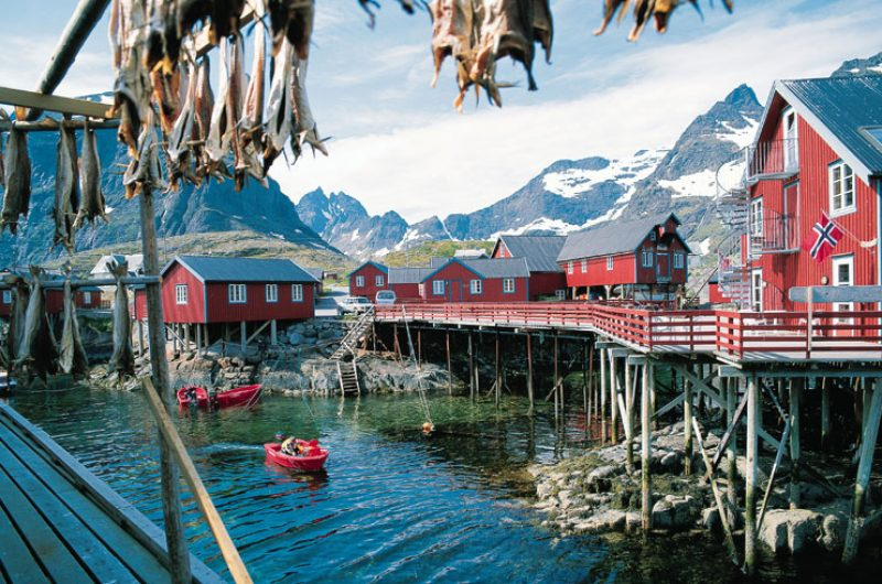 norway lofoten village dried fish vn