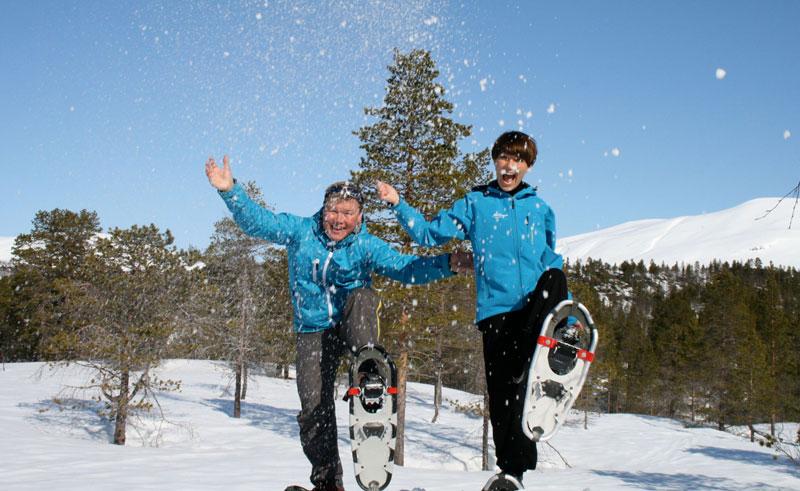 norway north balsfjord malangen snowshoeing