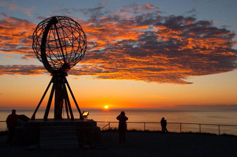 norway north cape globe midnight sun istk