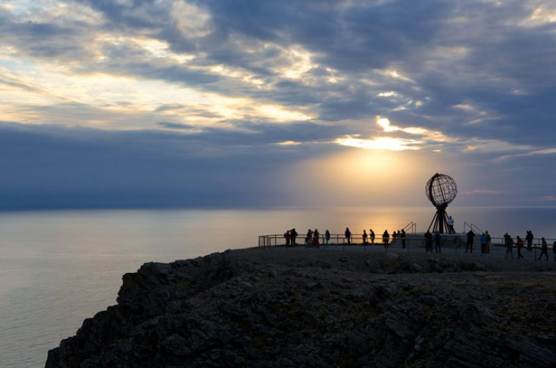 norway north cape landmark sunset ap