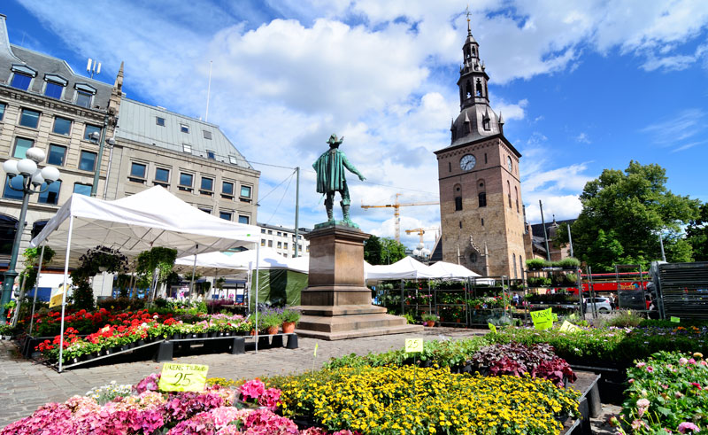 norway oslo summer market istk