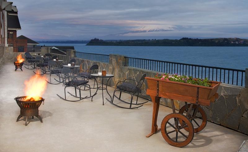 puerto varas cabanas del lago outdoor terrace