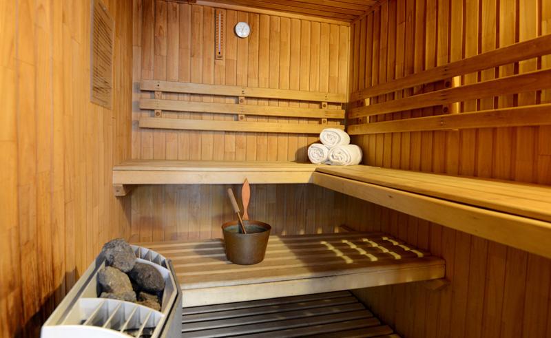 santiago holiday inn airport sauna