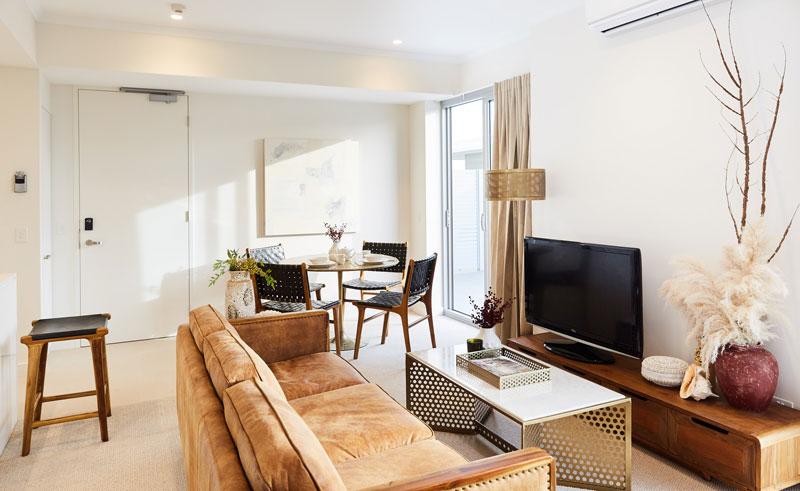 seashells fremantle apartment interior