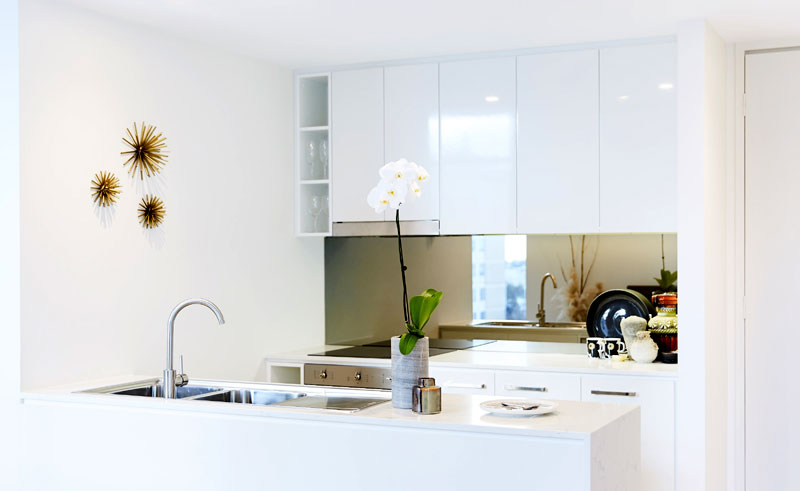 seashells fremantle apartment kitchen