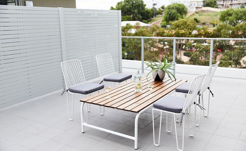 seashells fremantle apartment verandah