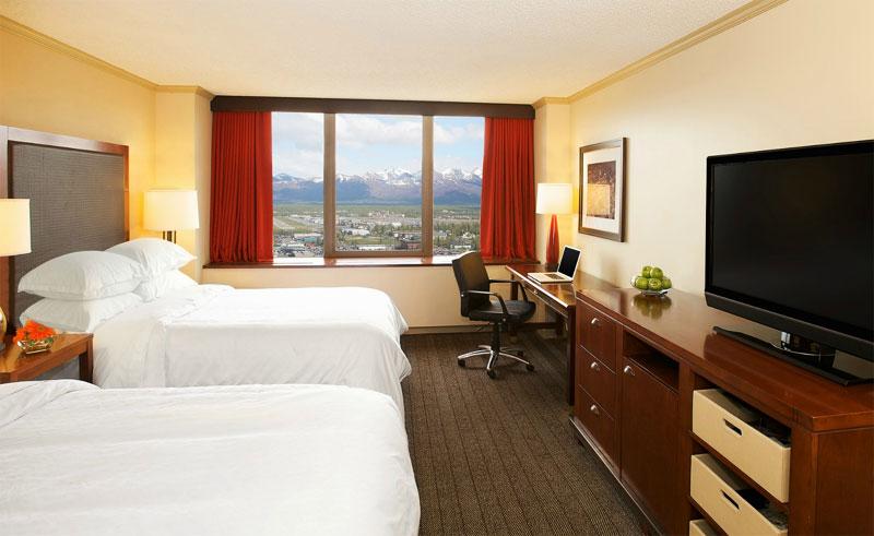 sheraton anchorage hotel guestroom