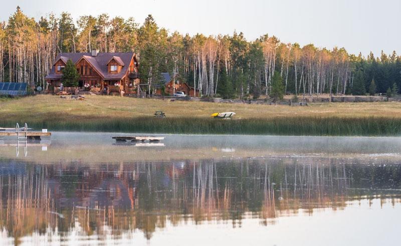 siwash lake ranch lake outside