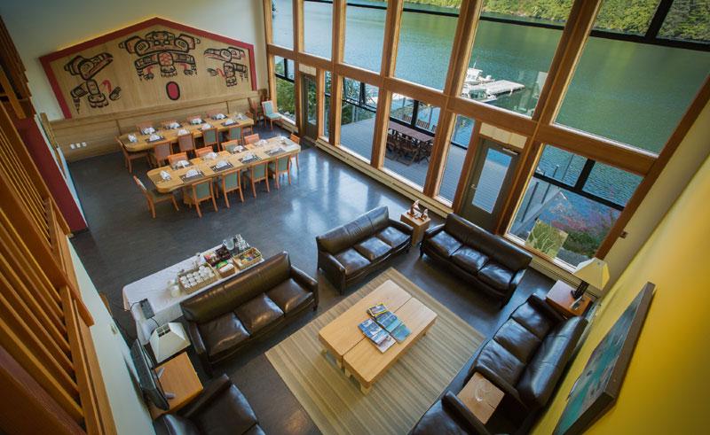 spirit bear lodge interior