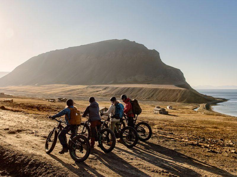 svalbard summer excursion fat bikes hurtigruten